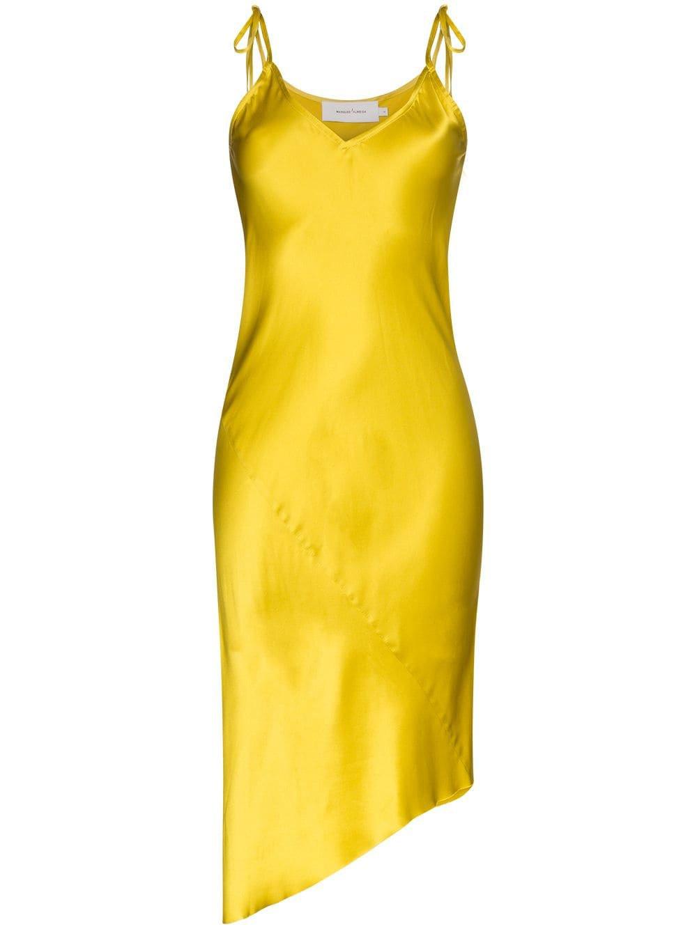 Marques'Almeida Asymmetric Silk Slip Dress - Farfetch