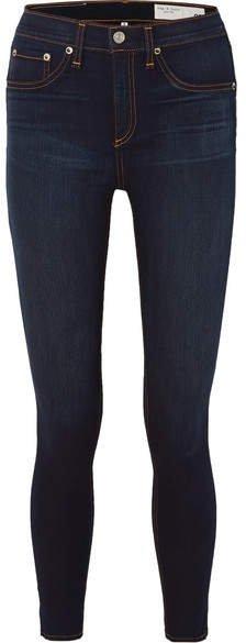 High-rise Skinny Jeans - Dark denim