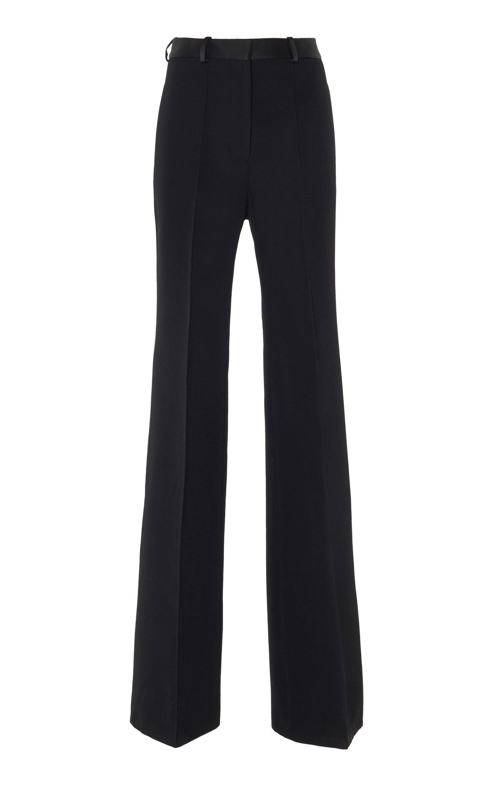Victoria Beckham High-Waisted Wool Wide-Leg Pants Size: 10