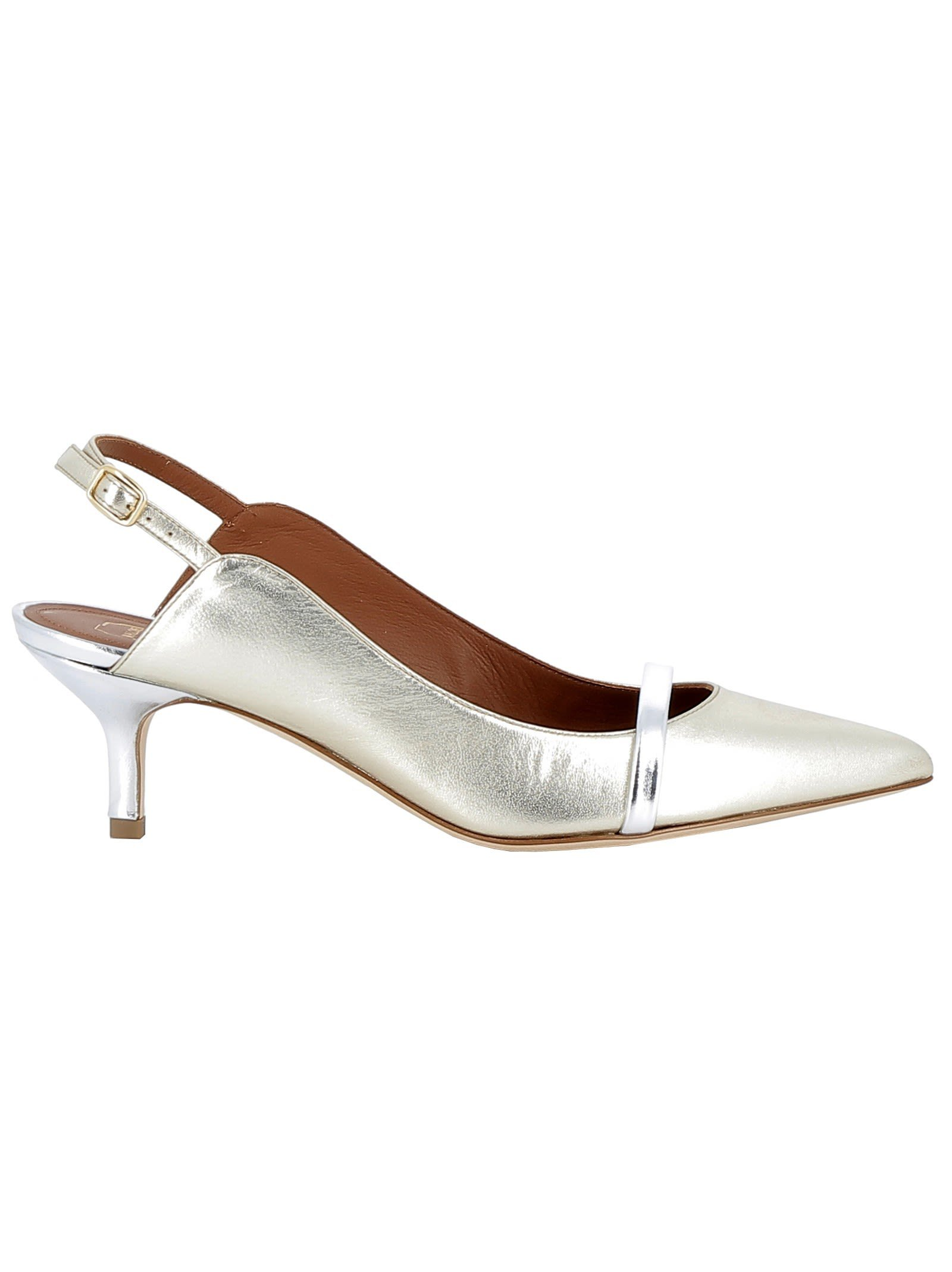 Malone Souliers Gold Pumps