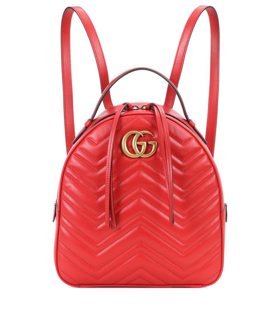 Gg Marmont Matelassé Leather Backpack - Gucci | mytheresa.com
