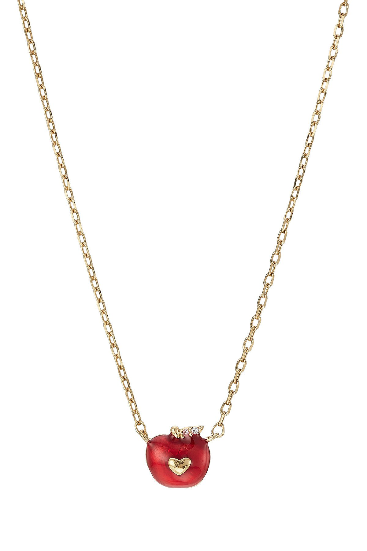 Apple Necklace with Crystal Embellishment Gr. One Size