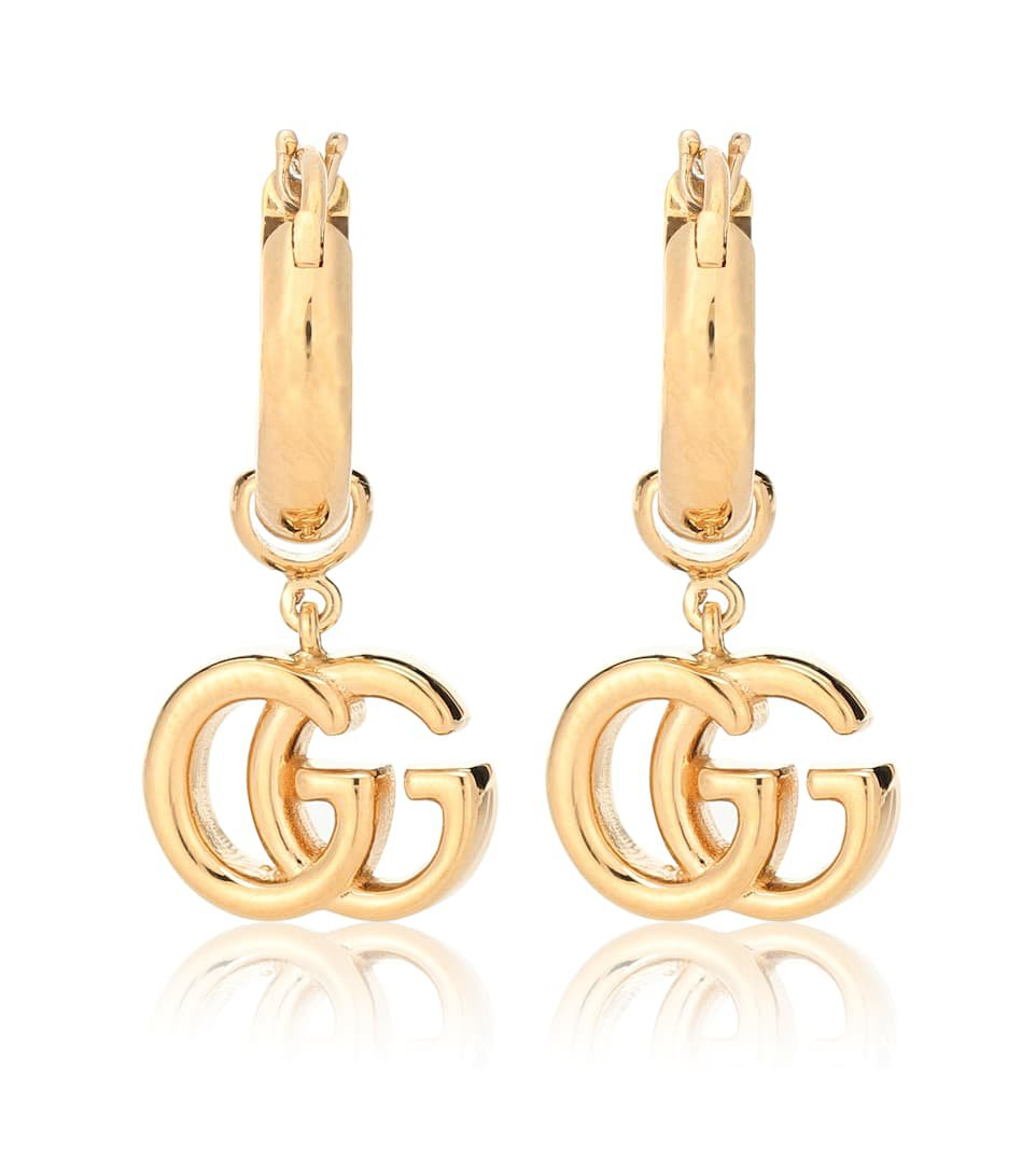Gucci - GG 18-karat gold earrings   Mytheresa