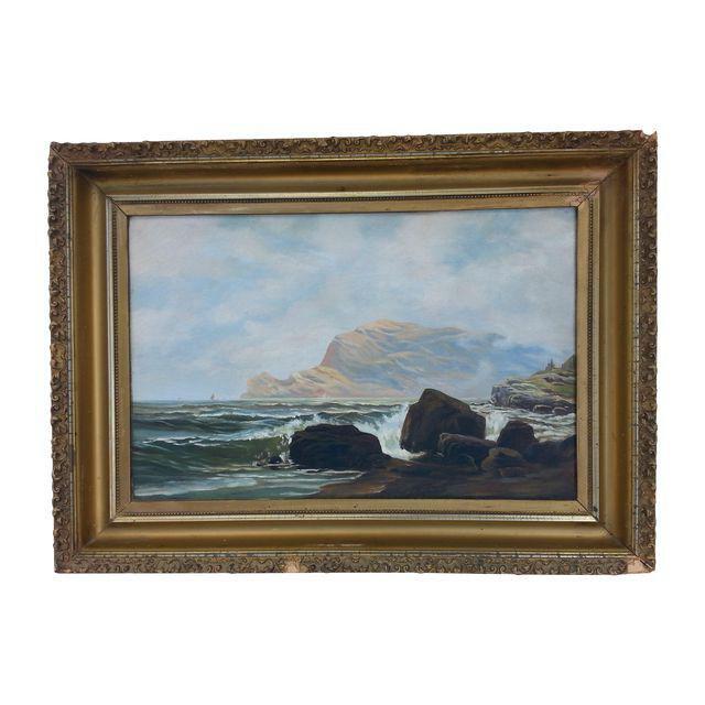 Antique Ocean Painting | Chairish