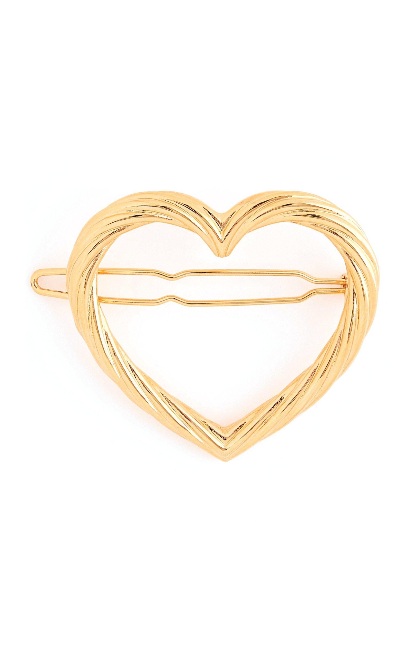 Loeffler Randall Lou Gold-Tone Heart Barrette