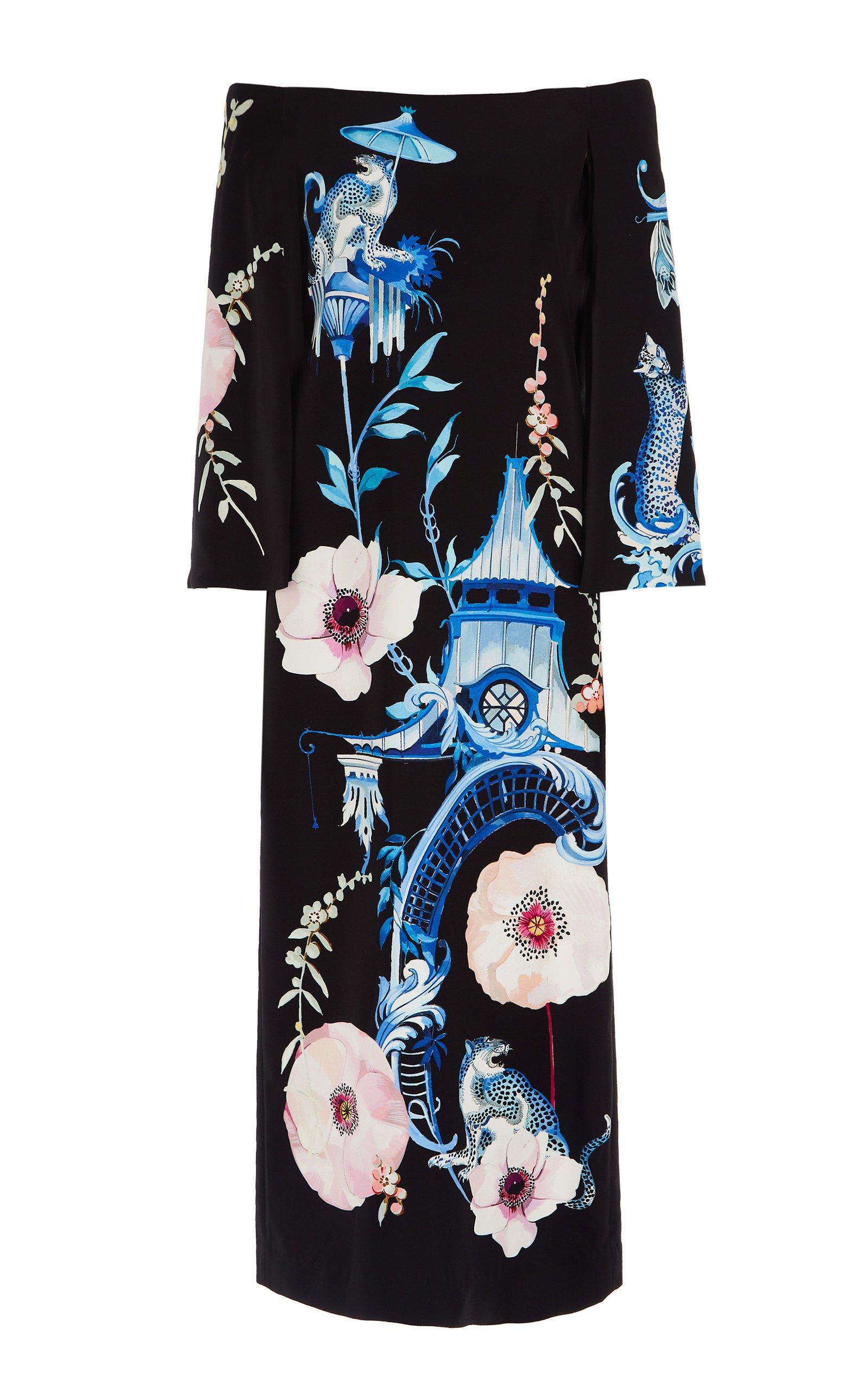 Temperley London Euphoria Off-The-Shoulder Dress