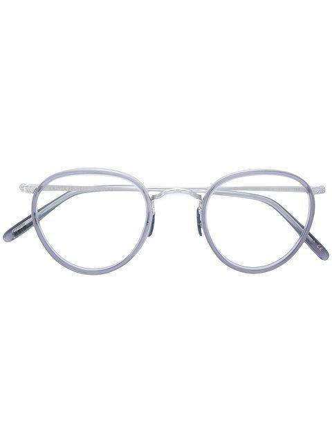 OLIVER PEOPLES round frame glasses.