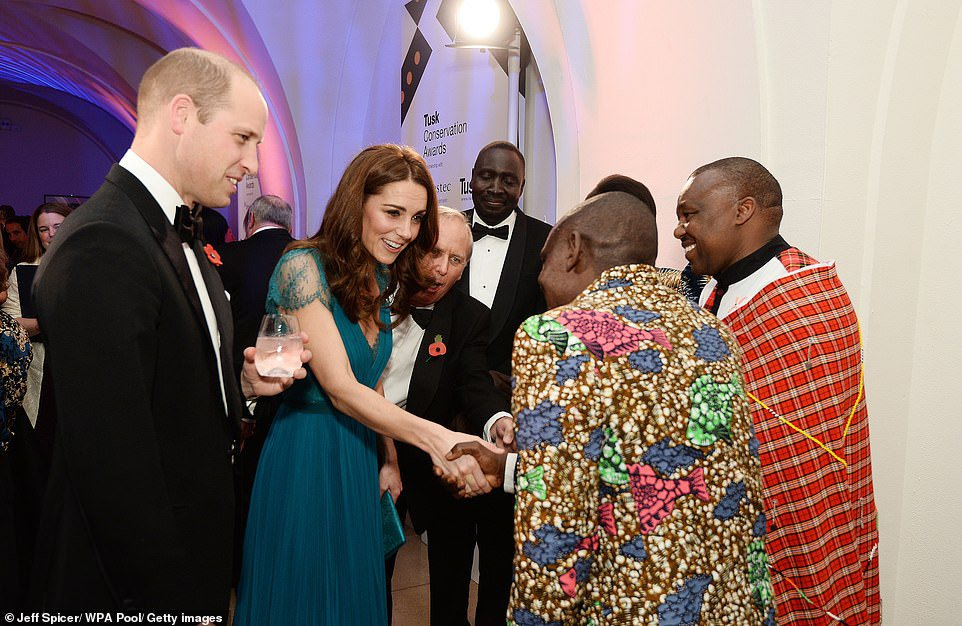 Kate recycles SIX-YEAR-OLD Jenny Packham dress for Tusk awards   Daily Mail Online
