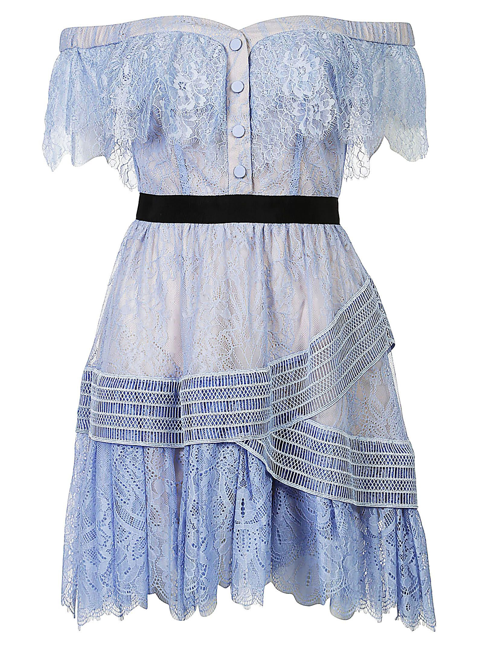 Self-portrait Lace Embroidered Shift Dress