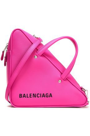 Triangle Duffle printed textured-leather tote | BALENCIAGA | Sale up to 70% off | THE OUTNET