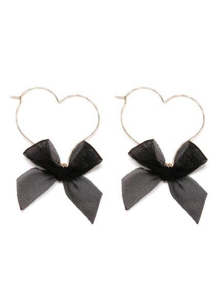 Metal Heart Ribbon Earrings GL (Accessory / Pierce) | Mail Order of BUBBLES (Bubbles) | Fashion Walker