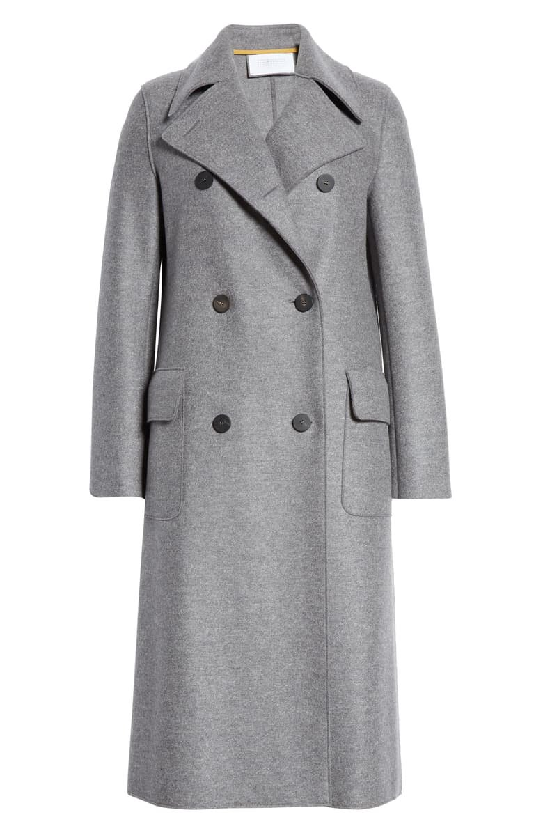Harris Wharf London Double Breasted Wool Military Coat | Nordstrom