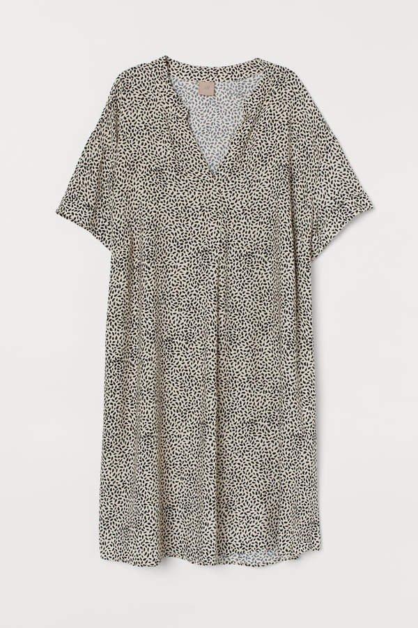 H&M+ V-neck Dress - Beige