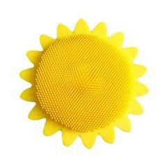 Sunflower Shape Silicone Wash Multi-function Clean Brush Baby Shower Bath Safe Brush Massage Body Brushes