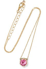 Jennifer Meyer | Open Heart 18-karat gold turquoise necklace | NET-A-PORTER.COM