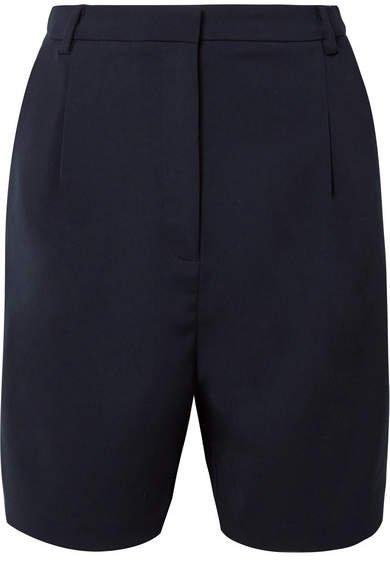 Stretch-crepe Shorts - Navy
