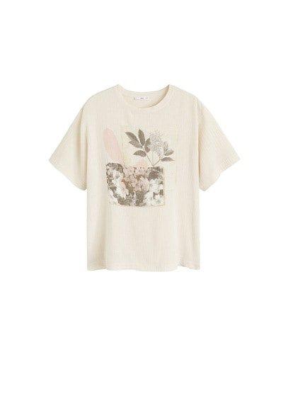 MANGO Cotton printed t-shirt