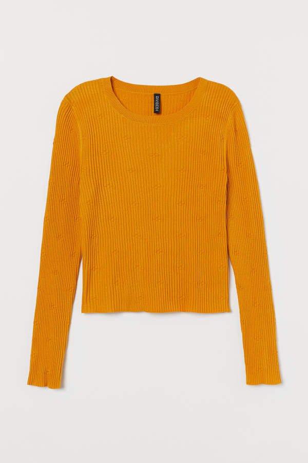 Ribbed Top - Yellow