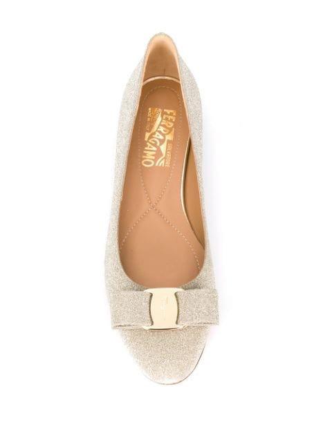 Salvatore Ferragamo Sparkle Ballerina Shoes - Farfetch