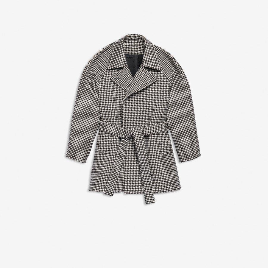 Veste Wrap Pinched NOIR / BLANC pour Femme | Balenciaga