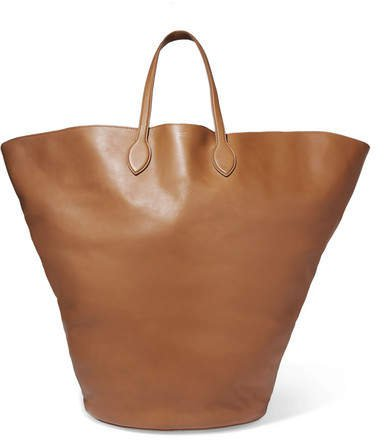 Circle Large Leather Tote - Camel