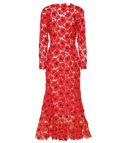 Floral guipure lace dress
