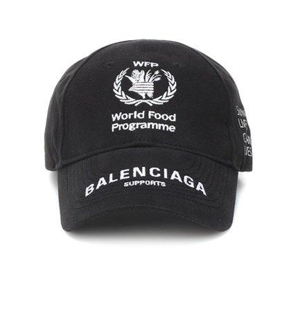 2a101e06 balenciaga World Food Programme cotton cap   ShopLook