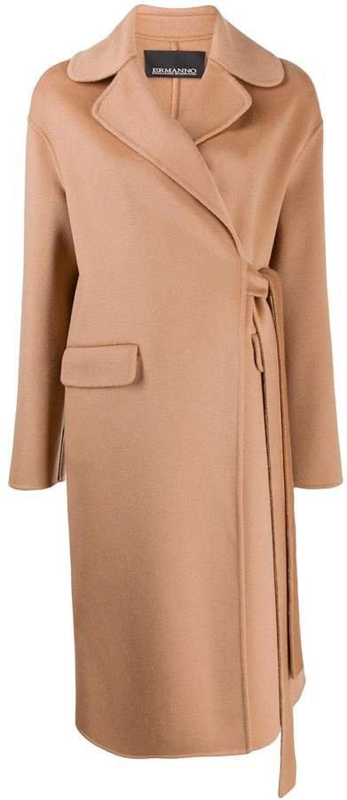 Ermanno Ermanno wrap front coat