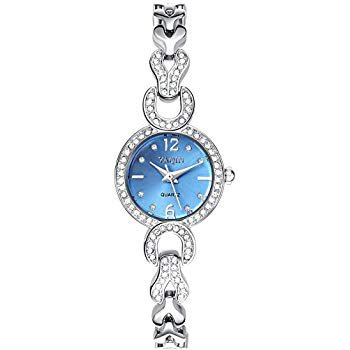 baby blue dainty rhinestone watches - Google Search