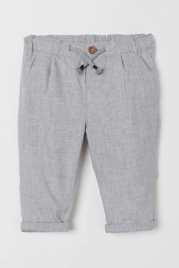 Drawstring Pants - Gray