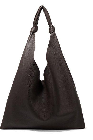The Row | Bindle textured-leather shoulder bag | NET-A-PORTER.COM