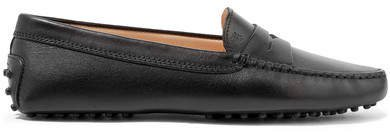 Gommino Leather Loafers - Black