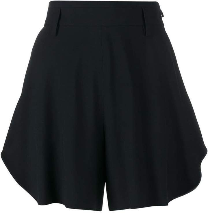 flared cotton shorts