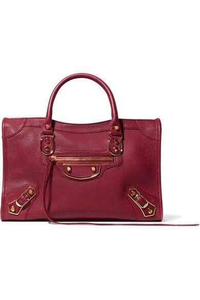 Balenciaga | Metallic Edge City medium textured-leather tote | NET-A-PORTER.COM