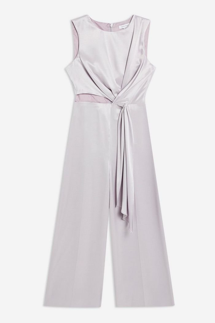 Lilac Satin Twill Jumpsuit | Topshop