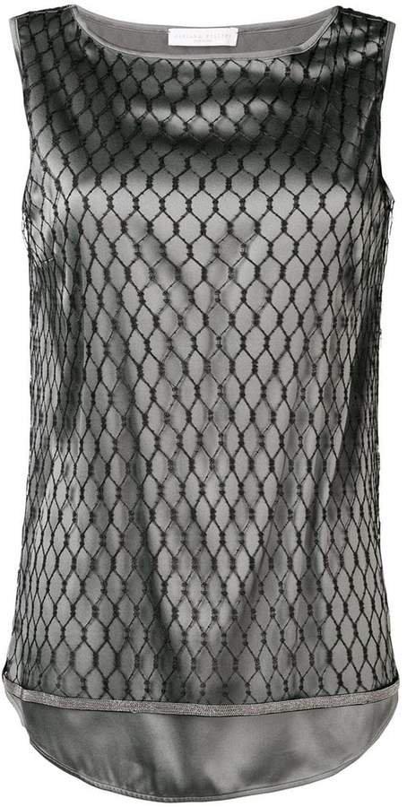 mesh layer tank top