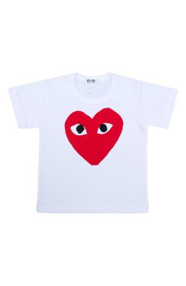 Comme des Garçons PLAY Heart Face Graphic T-Shirt (Toddler & Little Kid) | Nordstrom