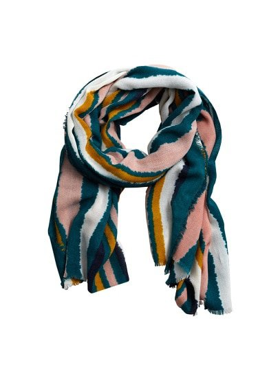 Violeta BY MANGO Multicolor striped scarf