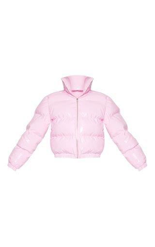 Pink Vinyl Puffer | Coats & Jackets | PrettyLittleThing