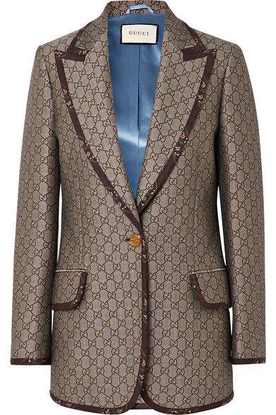 Gucci   Cotton and wool-blend jacquard blazer   NET-A-PORTER.COM