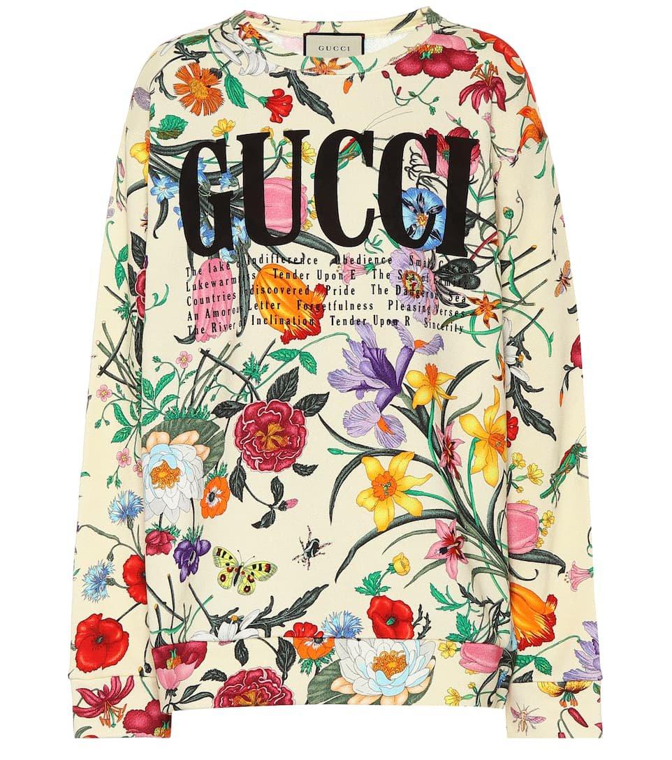 Printed Cotton Sweatshirt | Gucci - mytheresa