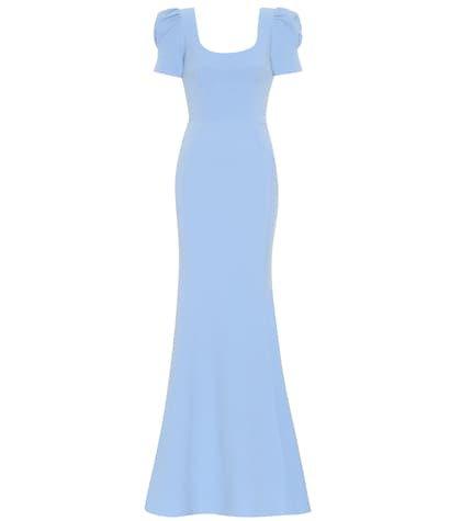 Yves crêpe gown