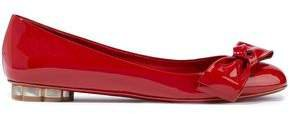 Avola Bow-embellished Patent-leather Ballet Flats