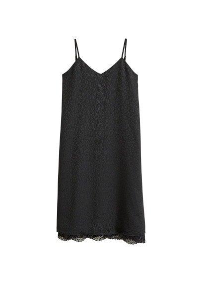 MANGO Jacquard leopard print dress