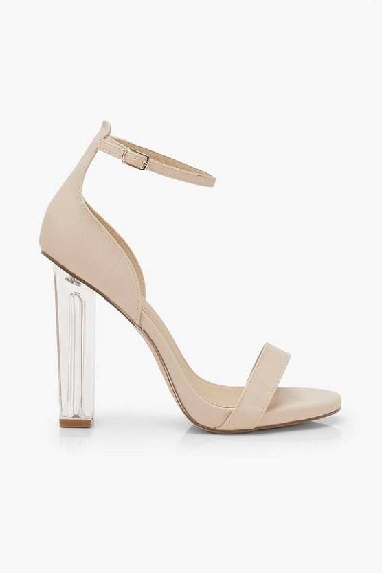 Wide Fit Clear Heel 2 Parts | Boohoo rose