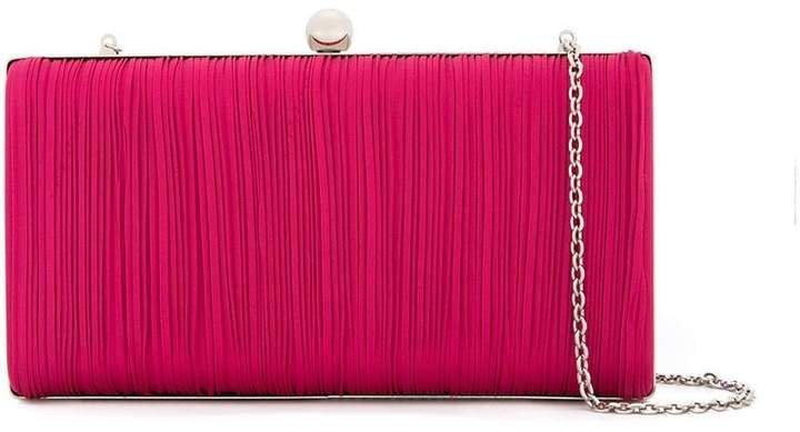 We11done ribbed chain clutch bag