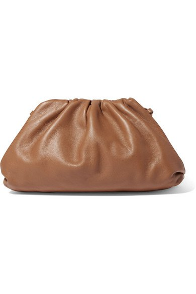 Bottega Veneta | Pouch small gathered leather clutch | NET-A-PORTER.COM