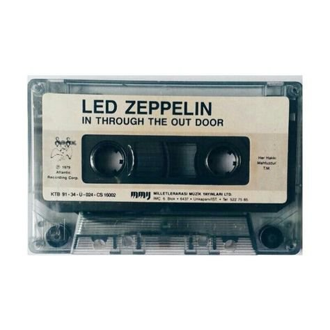 cassette tape led Zeppelin filler png black grey