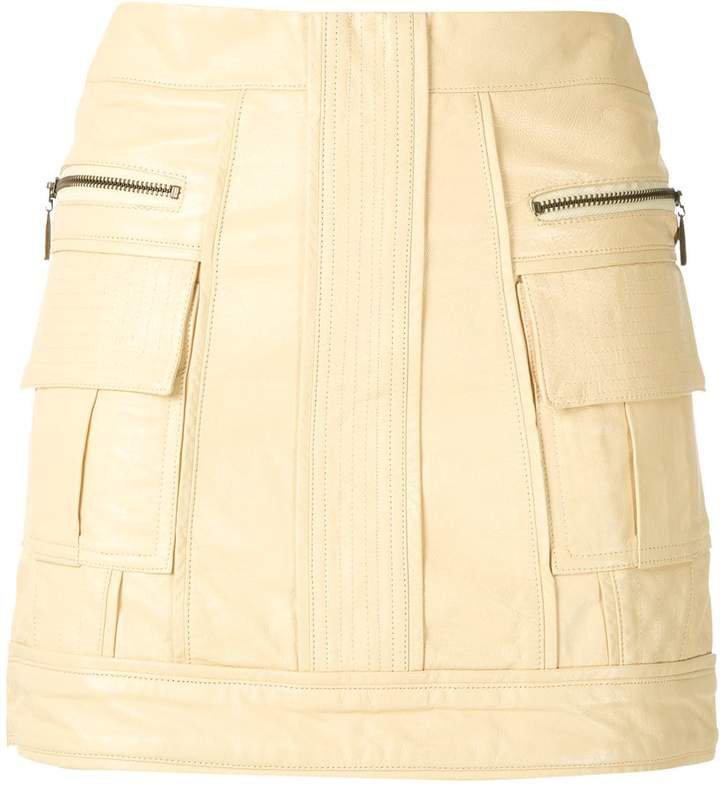 Andrea Bogosian panleld leather skirt