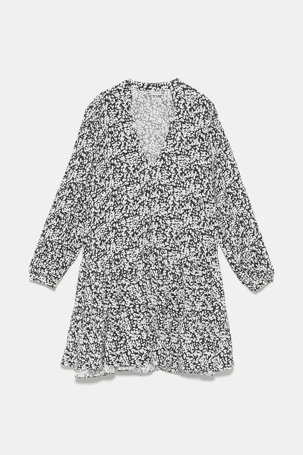 PRINT DRESS - View all-DRESSES-WOMAN | ZARA United States white